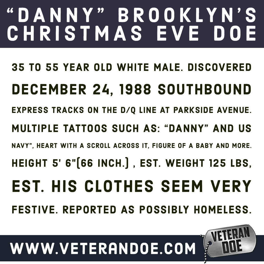 missing person Dan New York 1988 Christmas Eve